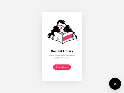 Content Library Illustration book art reading book girl ux design illustration