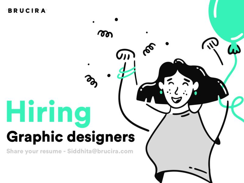 Hiring graphic designer vector hiring design girl ux ui illustration