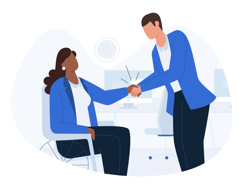 Help your colleagues chair colleagues boy vector office icon web girl ux design ui illustration