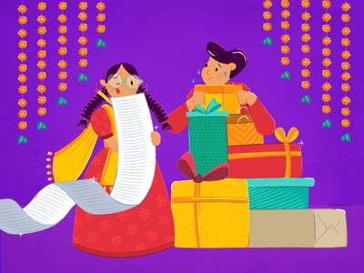 bhai dooj list gift graphic mumbai india siblings love sister brother vector girl design ux ui graphicdesign illustration
