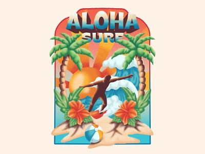 Aloha Surf cover artwork cover design cover poster art poster poster design clothing brand clothing design surf surfing illustration illustration art illustrator