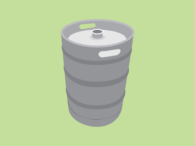Keg vector illustration keg flat