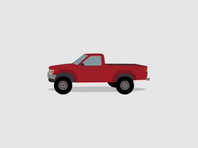 Toyota Pickup vector illustrator illustration