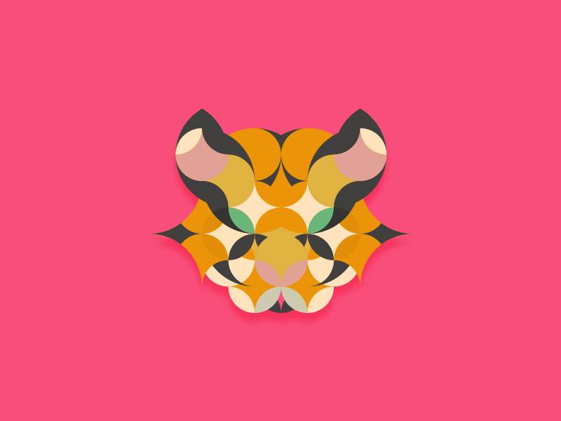 Tiger illustration icons graphic design