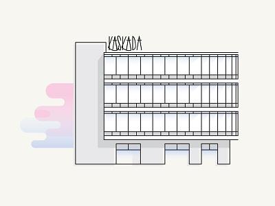 Kaskada graphic  design flat 2.0 icon kaskada szczecin prl