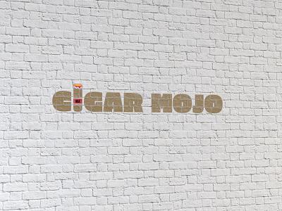 Cigar Mojo typography stogie branding logo identity mojo cigar