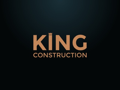 King Construction #2 typography crown identity branding logo construction king