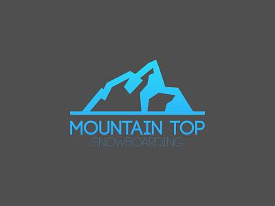 Mountain Top Snowboarding company logo snow mountain top branding identity logo snowboarding mountain