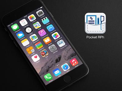 Pocket Rph iOS App Icon pharmacy ios app icon app icon icon pharmacist pocket pharmacist pocket rph