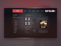 Battalion 1944 Menu UI Redesign