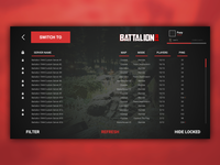 Battalion 1944 Server Browser UI Redesign
