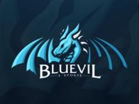 Bluevil E-Sports Mascot Logo