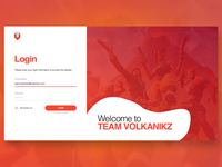 Team VolkanikZ - Login Form