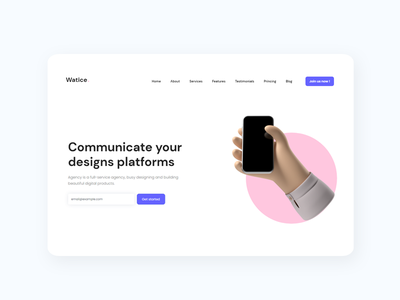 Watice Html template services about features bootstrap pricing table blog landing page design ui