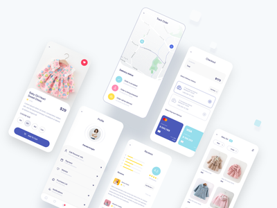 Omumu's E-Commerce App UI Kit shopping app product shopping cart orders profile payment checkout cart ecommerce design ecommerce shop ecommerce ecommerce app dribbble mobile ui app ui app ui design shop
