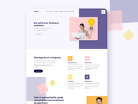 Forset Landing page Template modern creative bootstrap 4 landing page design