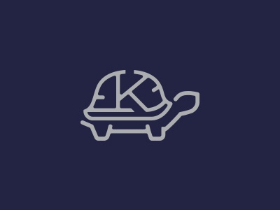 KNIGHT FINANCIAL  typography k letter financial tortoise icon