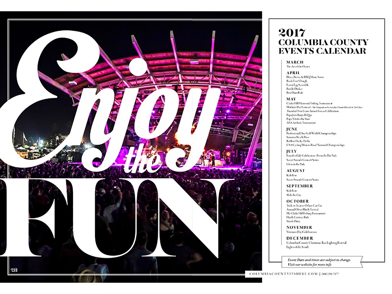 F U N photography typography print layout calendar events music entertainment guide travel