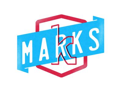 M A R K S crest enclosure k icon logo
