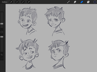 WIP - Rough Sketches - Expressions