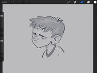 WIP - Irritated Kid