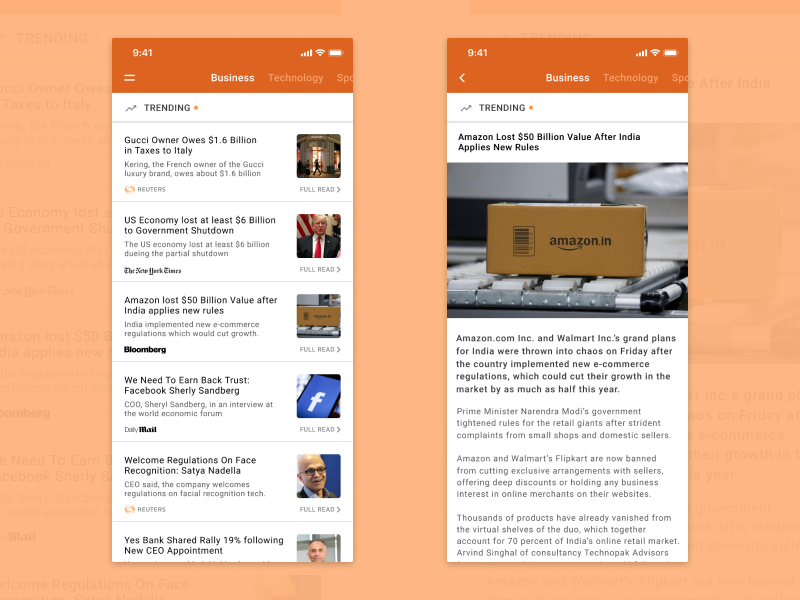 News App iOS by Surya Narayanan on Dribbble