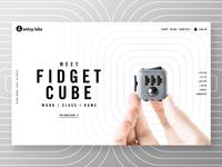 Fidget Cube Home Banner Concept