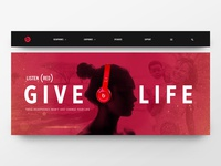 Beats (RED) Banner Concept