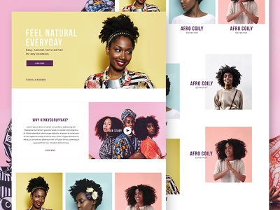 Visual Explorations  website beauty concept web banner hair ecommerce shopify shop colorful store ui