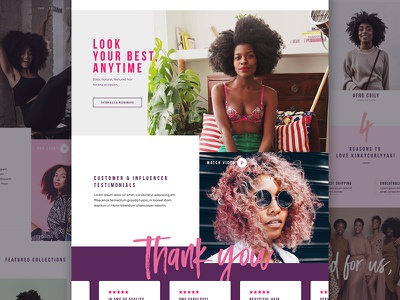KCY - Home Page Progress  landingpage homepage typography ui webdesign shopify ecommerce hair grid web beauty website