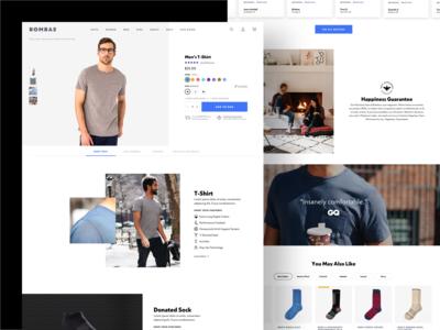 Bombas Shirts Product Page