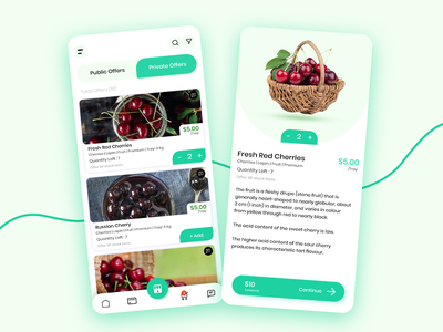 Fruits app for Wholesale iphone android ui offersdetails offers uidesign shopping app