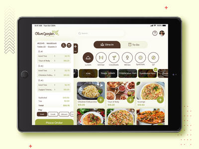iPad app for Restaurant Waiter tranding design ui design mobile app restaurants waiter restaurant app