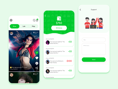 Social App (Earning Daily) beautiful ui wallet support video ui socialmedia social