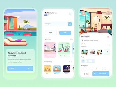 Booking App UI concept design illustration app ui