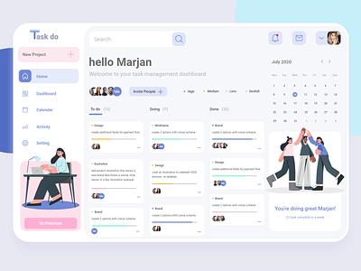 Task Management Dashboard to do list task management dashboard design minimal concept ux illustration design ui
