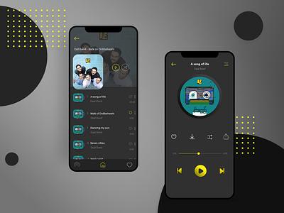 Music App Concept ui app