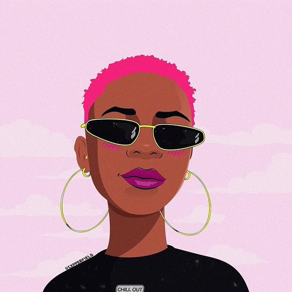 @akagabie gabriela poster 2019 brazilian cxpperfield ilustration cartoon vector coreldraw power woman black charachter artwork concept illustration portrait