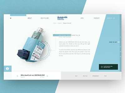 Daily design 02/01/19 - Ventolin HFA webdesign UI/UX artdirector ui daily concept artdirection ux design