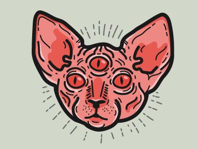 Sphynx  tattoo vector sphynx cat animals illustration