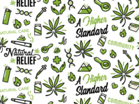 Medical Marijuana Seamless Pattern
