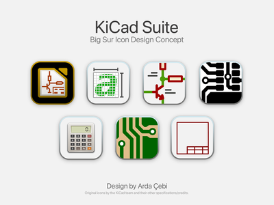 KiCad Suite — macOS Big Sur Icon Concept design logo macos 11 apple big sur brand design brand designer brand identity brand identity design colors kicad app icon icon app icons app icon design app icon designers iconography icon design logos logotype