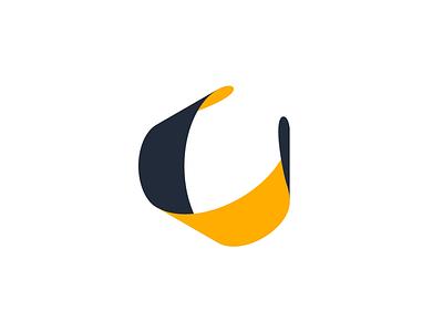 Cycle negative space motion loading ◁ ∞ logo simple animation animated cycle dark-orange twisting twist turning ribbon minimal form shape loop infinity