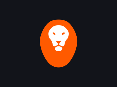 Light Lion logo double-meaning feline minimal simple lion light light-bulb