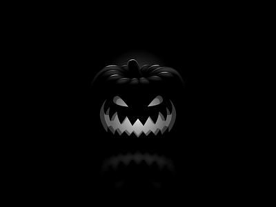 Pumpkin jack-o-lantern smile horror scarry noir candle light black pumpkin halloween