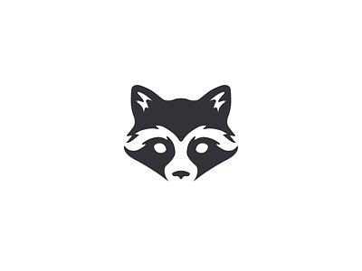 Raccoon rabbit trash panda negative space simple negative-space rocket face animal raccoon