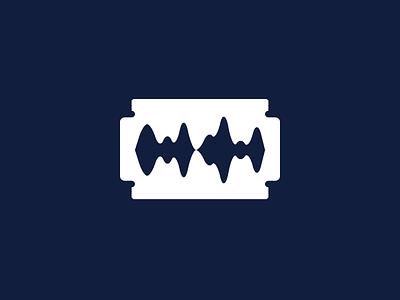 Sharp Sound negative space blade sharp mark logo brand icon music sound editing