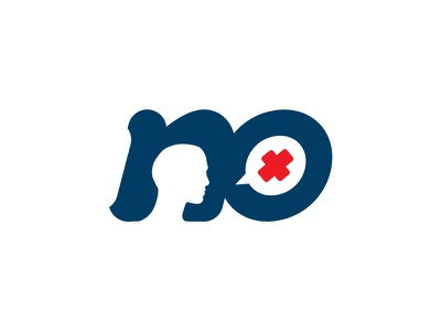 no negative space letters typography type logo minimal protest blue white red word negative-space negative no