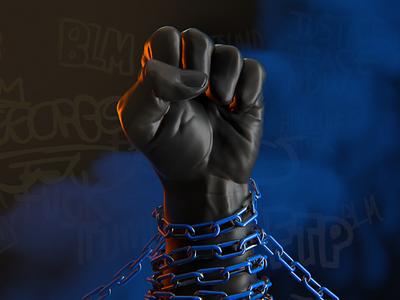 Black Lives Matter 01 editorial ftp blm blacklivesmatter resist fist protest 3d illustration