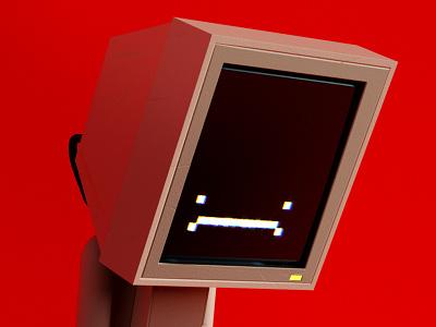 Computer 01 info screen windows pc computer tech summer character c4d lowpoly 3d